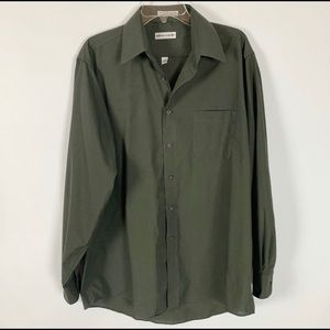 Pierre Cardin Green Long Sleeve Button Up Shirt